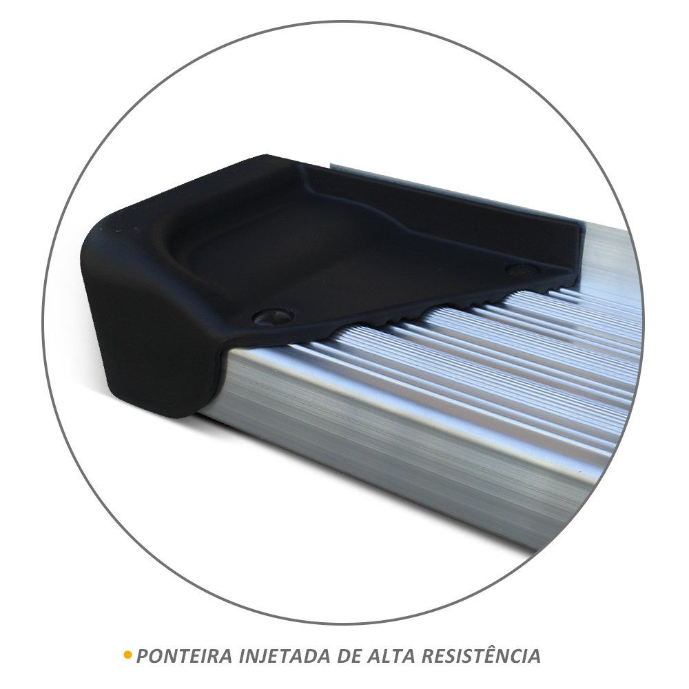 Estribo Lateral Hilux CD 2016 a 2019 Aluminio Natural A3