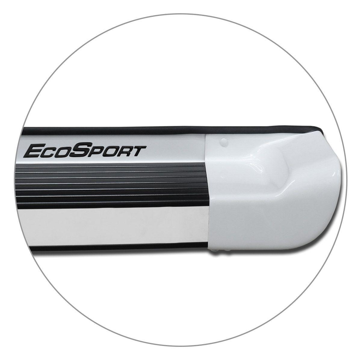 Estribo Lateral Ecosport 2013 a 2019 Branco Artico Personalizado