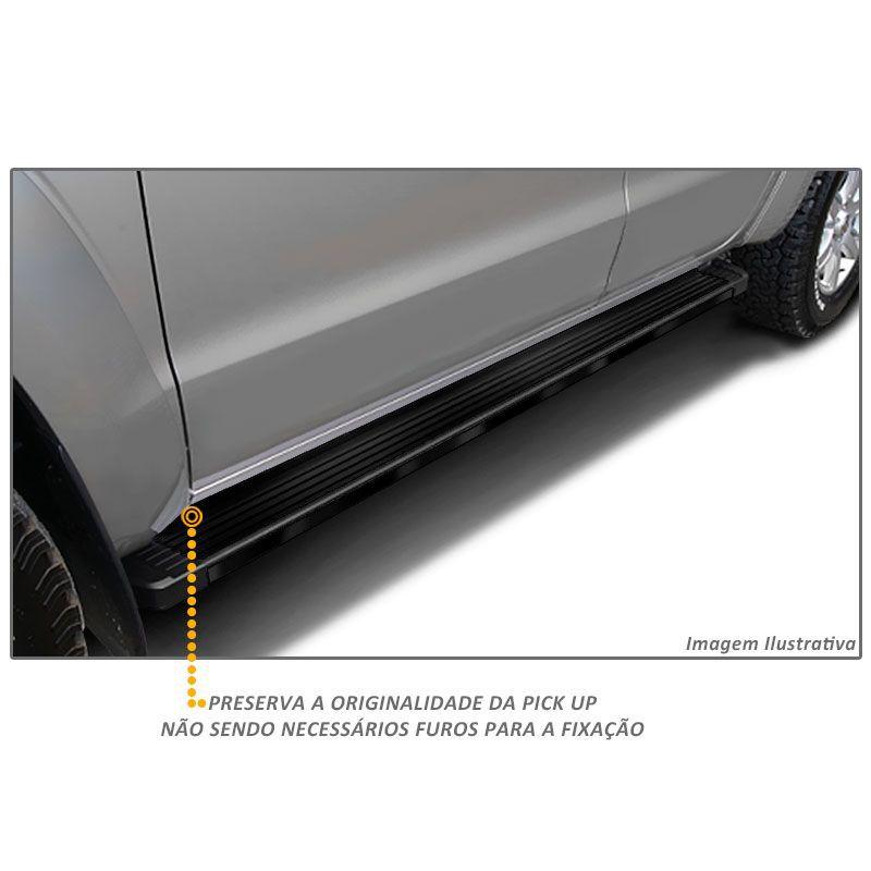 Estribo Lateral Ford Ranger 2013 a 2020 Aluminio Preto Bepo