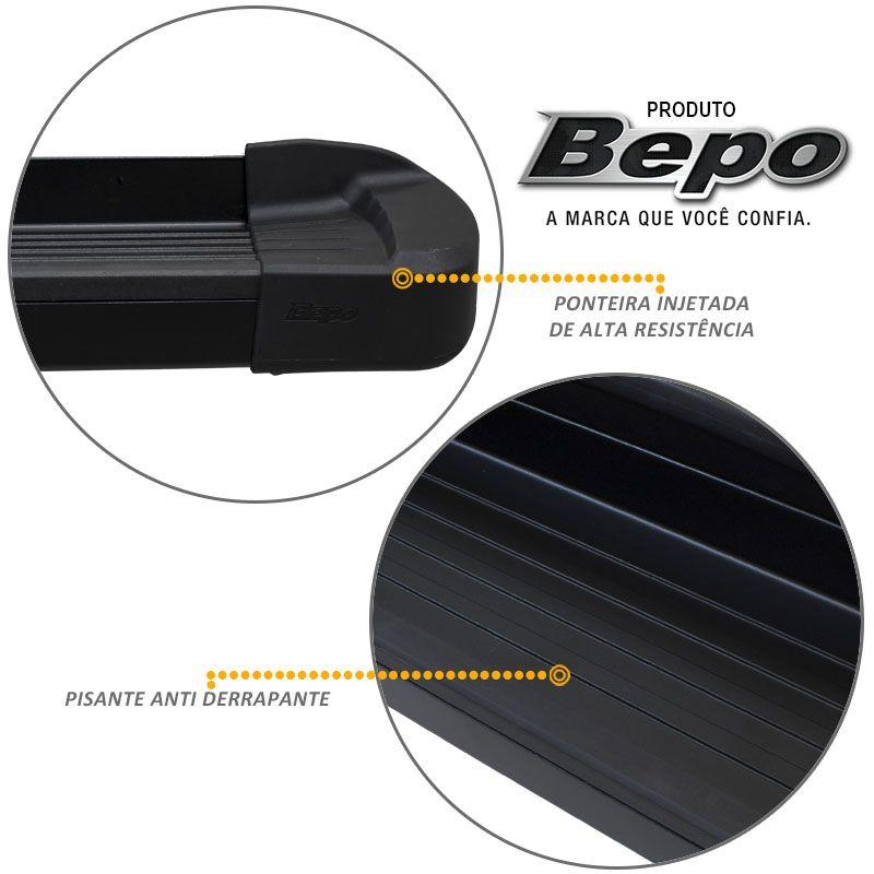 Estribo Lateral Duster 2012 a 2018 Alumínio Preto Fosco Bepo
