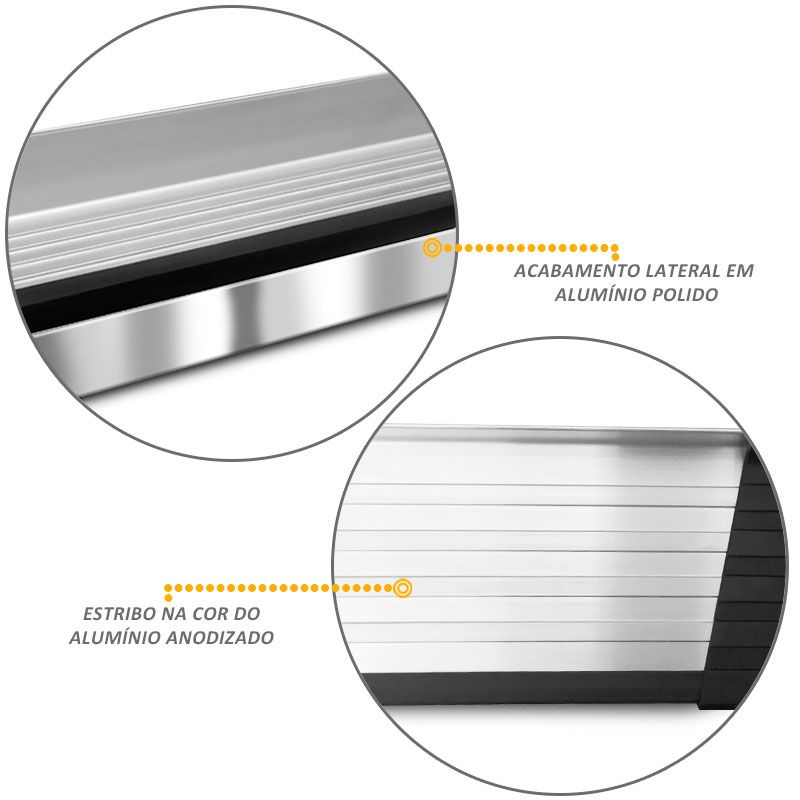 Estribo Lateral Renault Duster 2012 a 2018 Aluminio Bepo