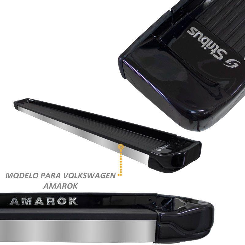 Estribo Lateral Amarok 2010 a 2020 Preto Mystic Stribus