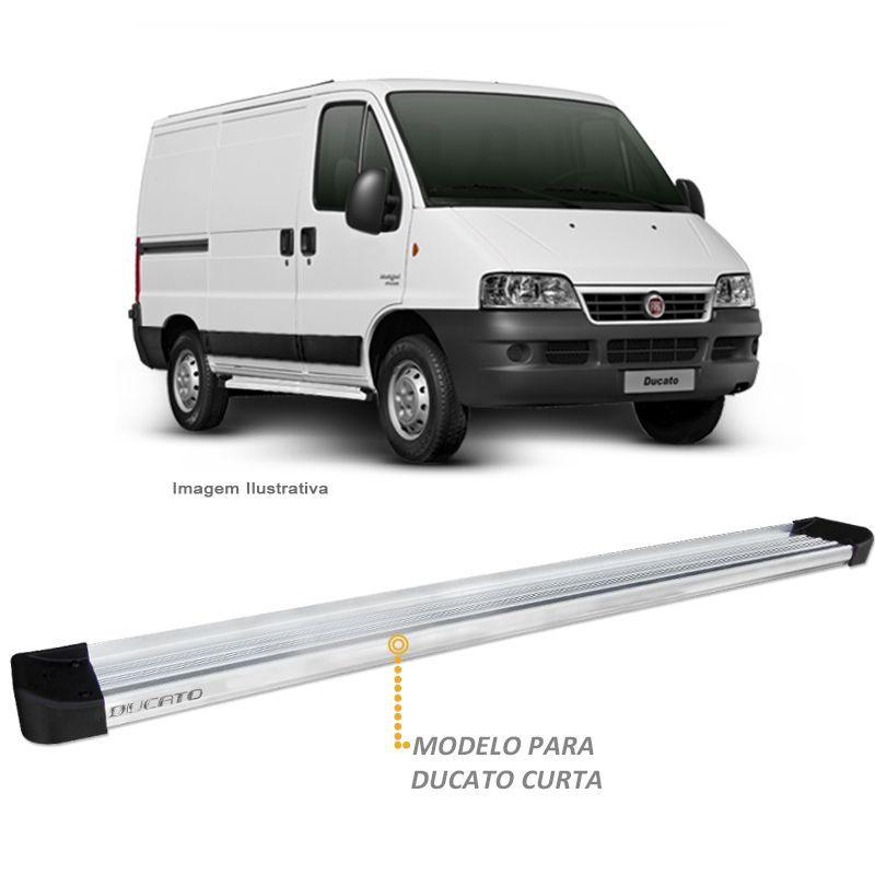 Estribo Lateral Fiat Ducato Curta 2012 a 2018 Prata Aluminio