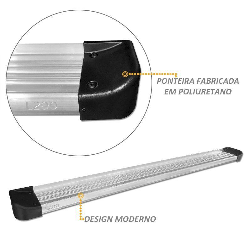 Estribo Lateral em Alumínio L200 Triton Cor Prata Anodizado