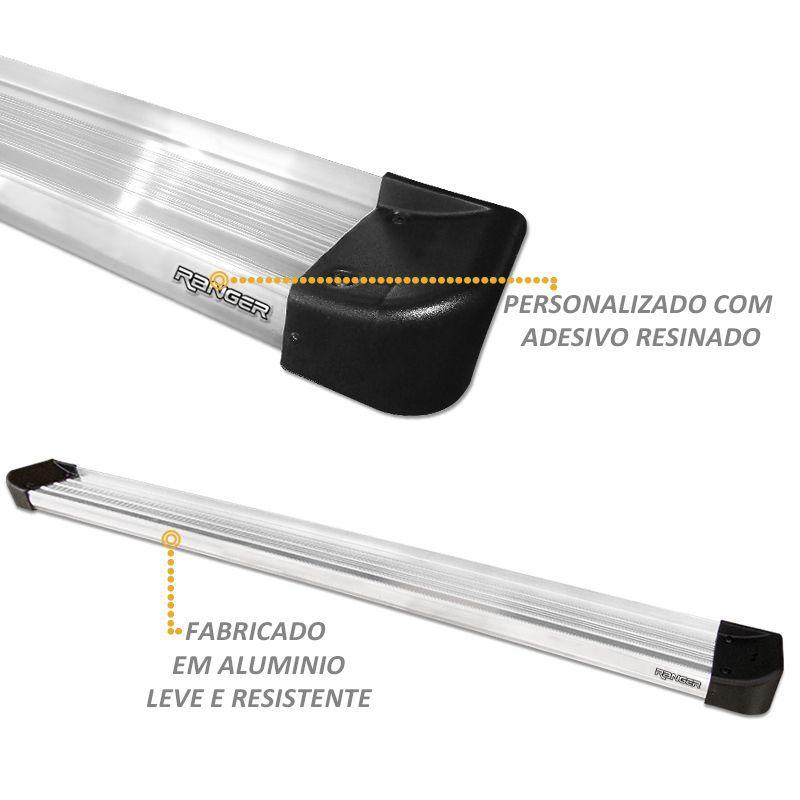 Estribo Lateral Ranger CS 2013 a 2019 Aluminio Prata Anodizado