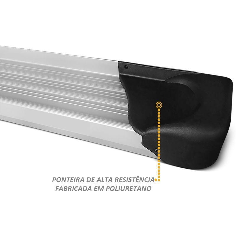 Estribo Lateral Renault Master L3H2 2013 Diante na cor Prata