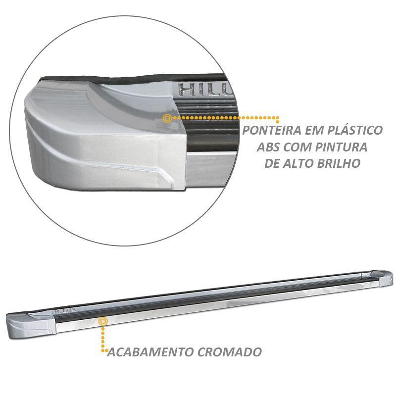 Estribo Lateral Hilux 2005 a 2015 Personalizado Prata CK