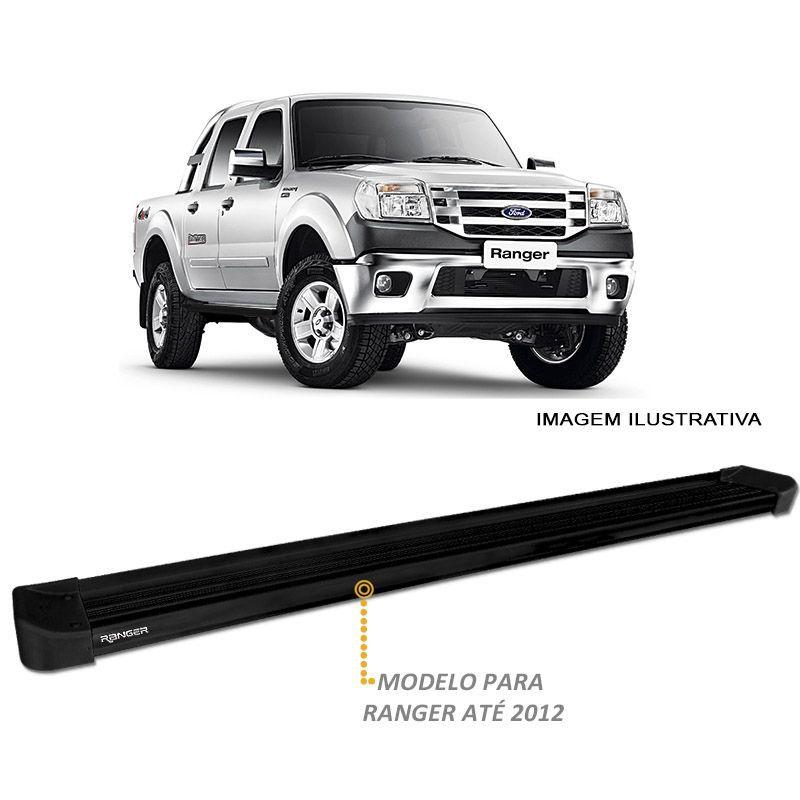 Estribo Lateral Ranger CD 1996 a 2012 Alumínio Preto CK