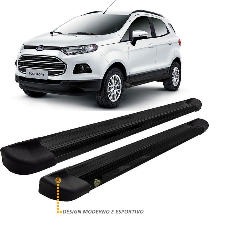 Estribo Lateral Ford Ecosport 2013 a 2018 Alumínio Preto VF