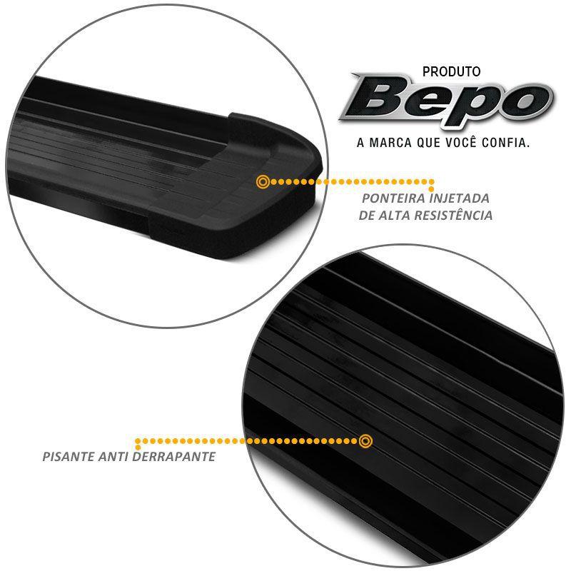 Estribo Lateral Ford Ranger 1998 a 2012 Aluminio Preto Bepo