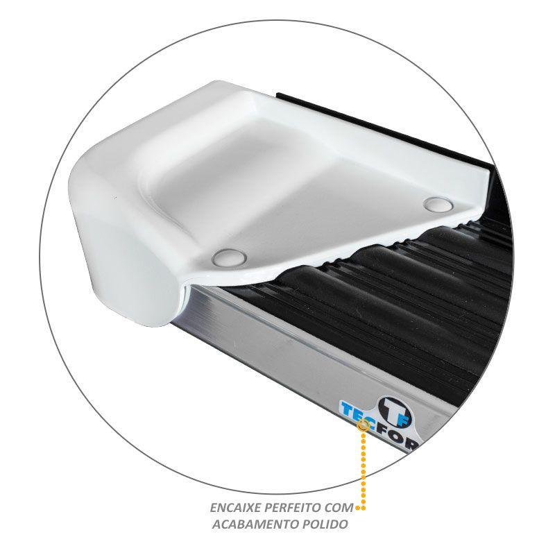Estribo Lateral Frontier 2008 a 2016 Aluminio Branco Glacial