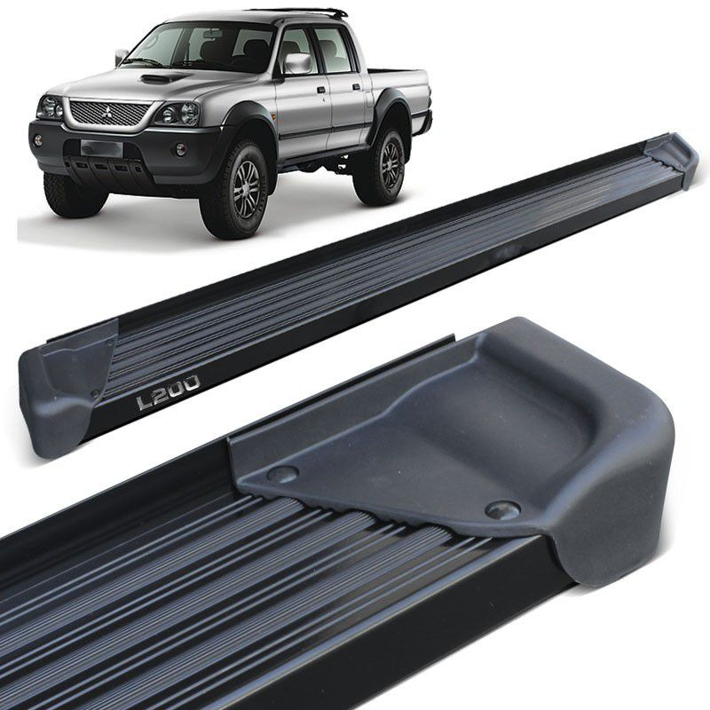 Estribo Lateral L200 Sport Outdoor 2005 a 2012 Aluminio Preto A3