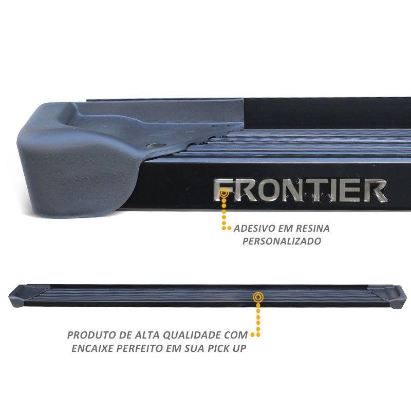 Estribo Lateral Frontier 2008 a 2016 Aluminio Preto A3