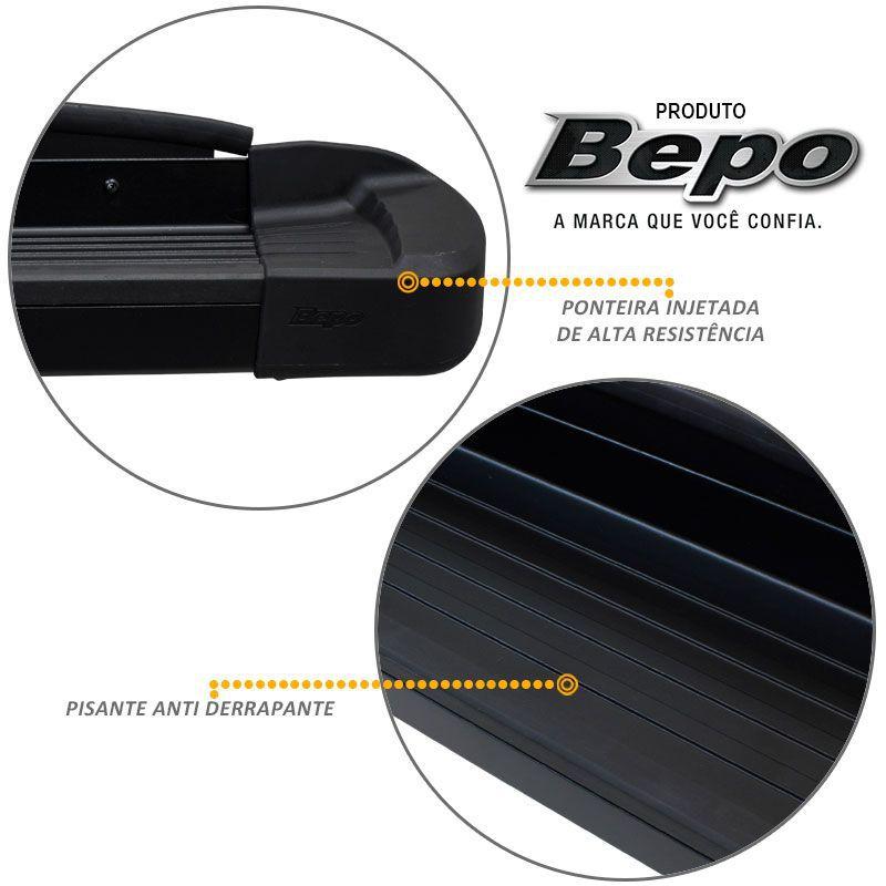 Estribo Lateral Hilux 2016 a 2020 Aluminio Preto Bepo