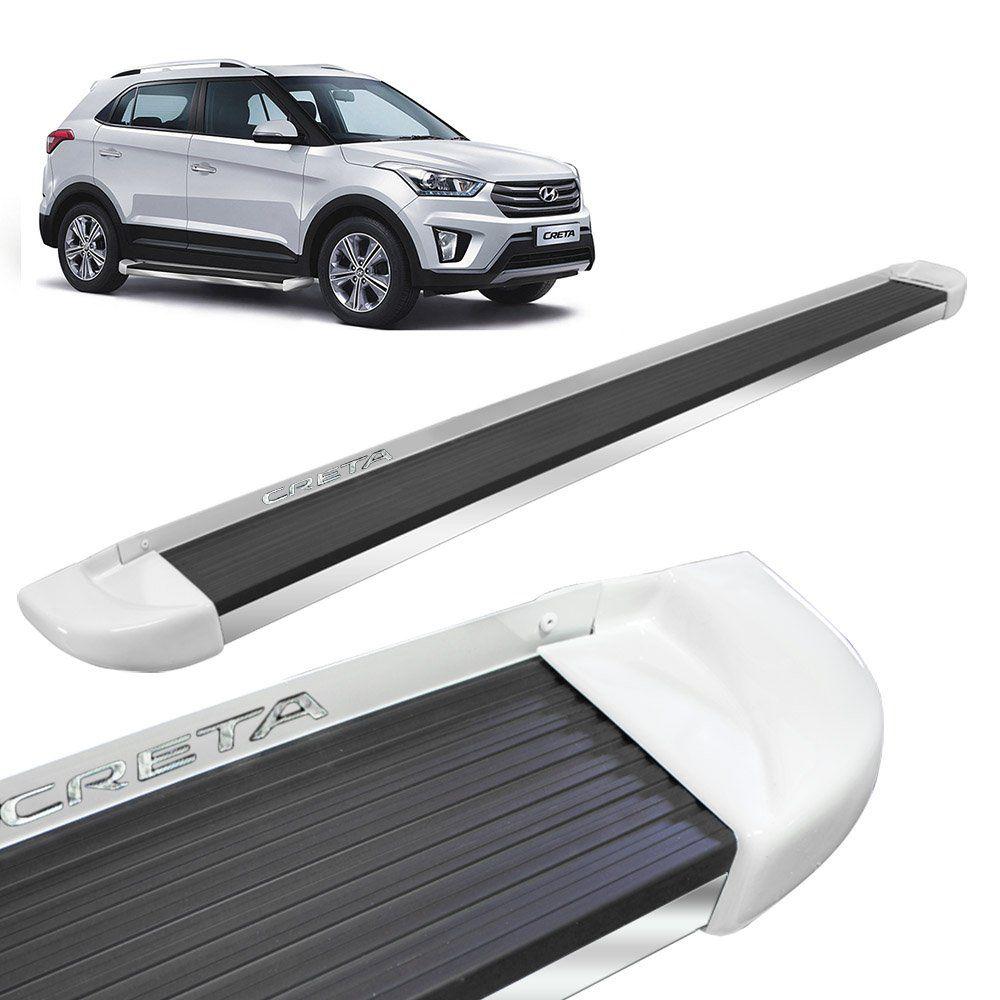 Estribo Lateral Hyundai Creta 2017 a 2019 Branco Polar Stribus