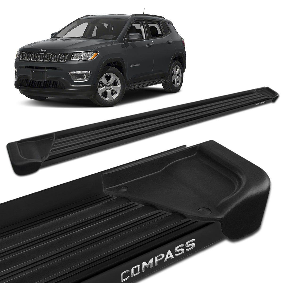 Estribo Lateral Jeep Compass 2017 a 2019 Aluminio Preto A1