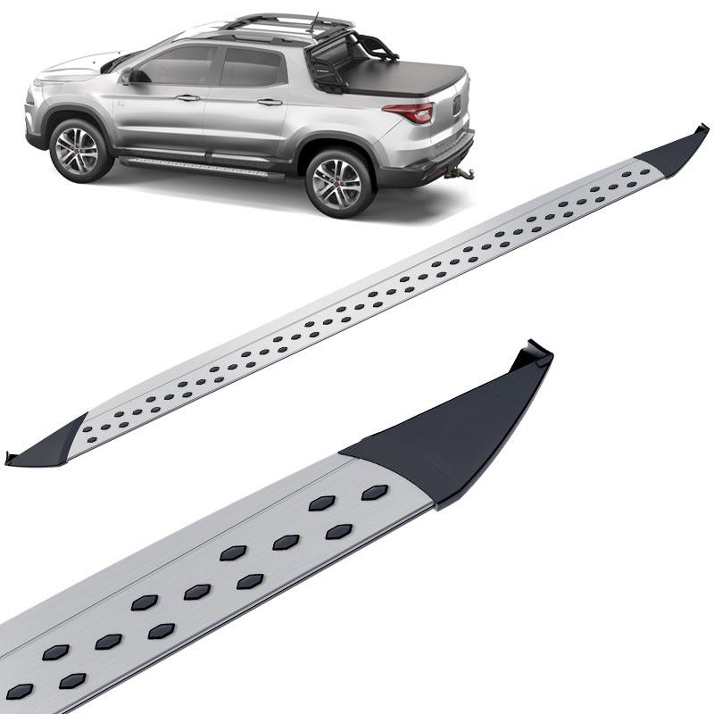 Estribo Lateral Fiat Toro 2016 a 2018 Aluminio Keko K2 My Way