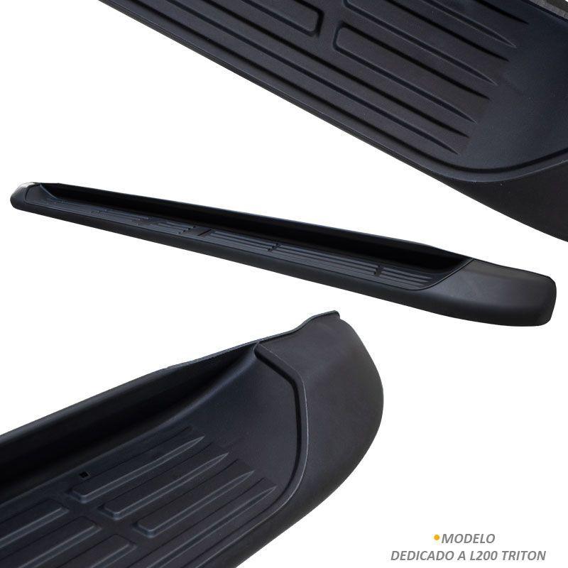 Estribo Lateral L200 Triton 2008 a 2018 Injetado Original Bepo