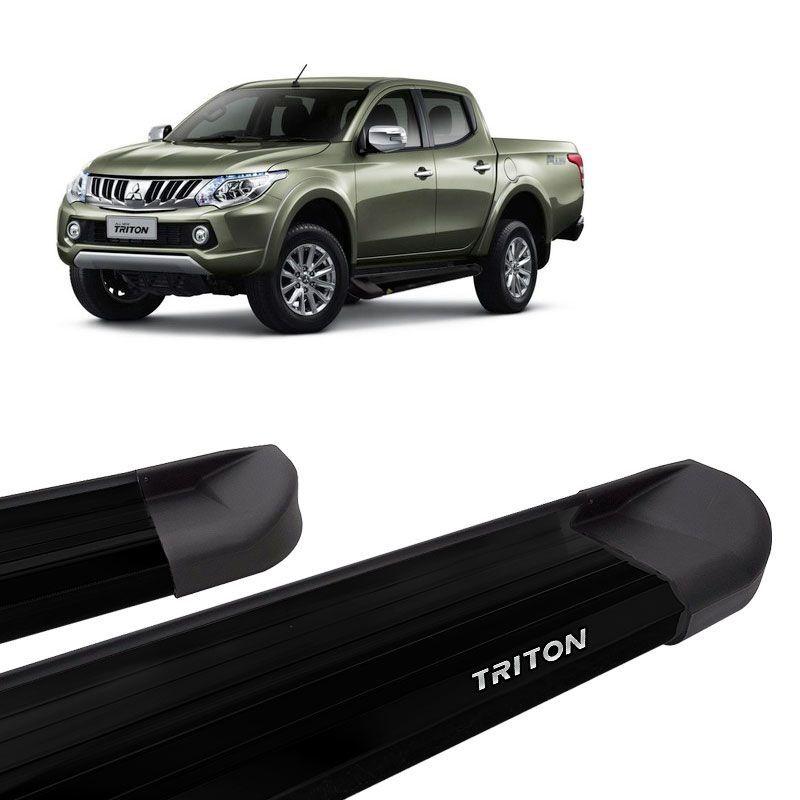Estribo Lateral L200 Triton 2008 a 2018 Aluminio Preto VF