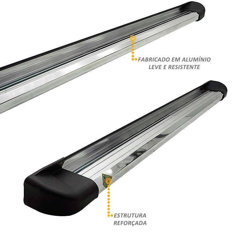 Estribo Lateral Hilux 2016 a 2019 Aluminio Anodizado VF