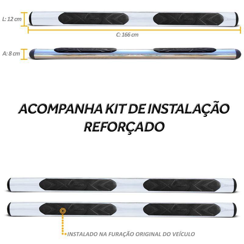 Estribo Lateral Ecosport 2003 a 2012 Oblongo Cromado Bepo