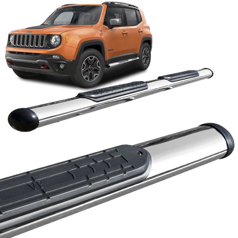 Estribo Lateral Jeep Renegade 2016 a 2018 Oval Cromado VF