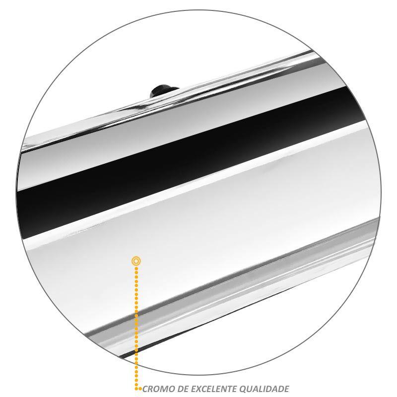 Estribo Lateral L200 Triton 2008 a 2018 Oval Cromado VF