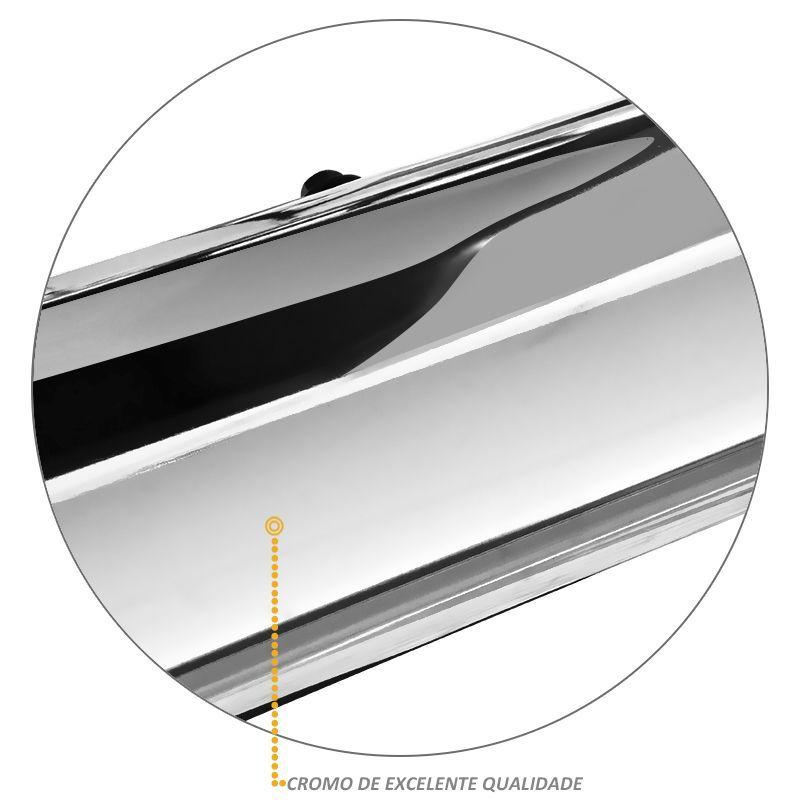 Estribo Lateral Frontier 2008 a 2016 Oblongo Oval Cromado