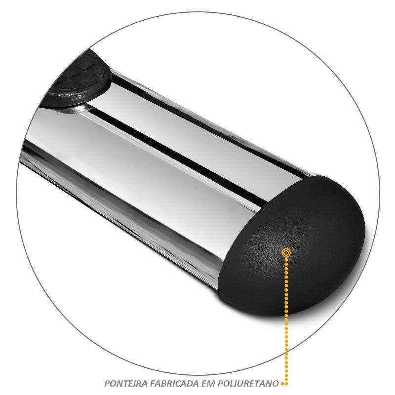 Estribo Lateral Oblongo Oval para Pajero Tr4 - Cromado
