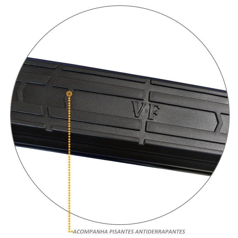 Estribo Lateral S10 CD 1996 a 2011 Oval Preto VF