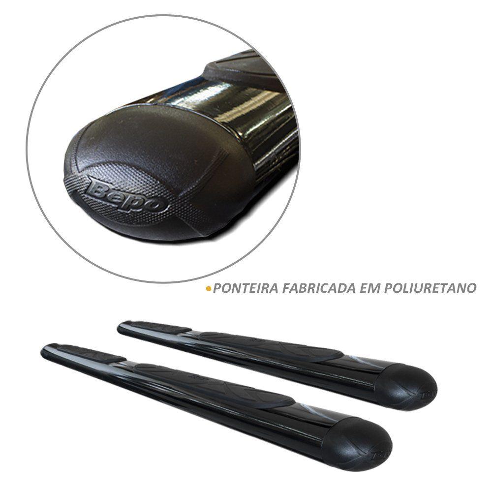 Estribo Lateral Oval Nissan Frontier 2017 a 2020 Preto Bepo