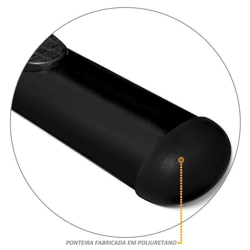 Estribo Lateral Oval Ranger 2013 a 2020 Oblongo Preto