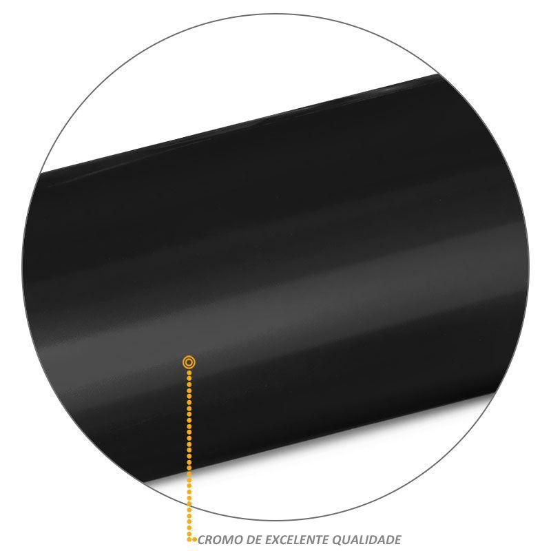 Estribo Lateral Oval Oblongo S10 2012/2017 Simples Preto