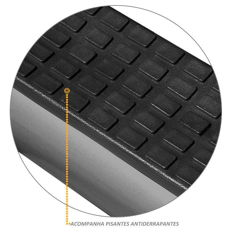 Estribo Lateral Oval Oblongo Tubolar Renault Duster Onix Grafite