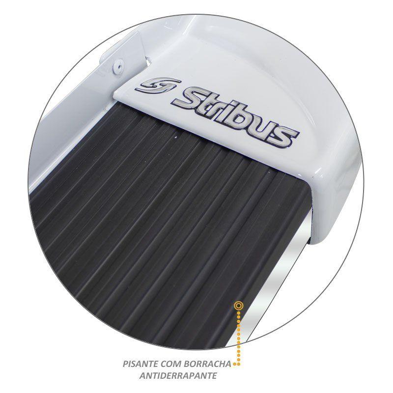 Estribo Lateral Pajero Tr4 2002 a 2015 Branco Alpino Stribus