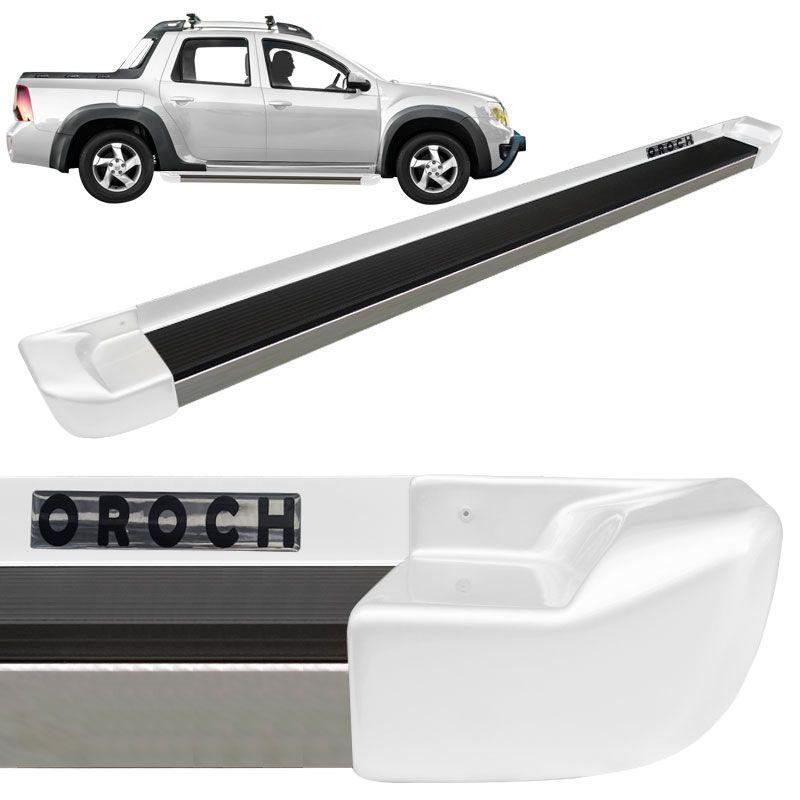 Estribo Lateral Duster Oroch Branco Neige Personalizado