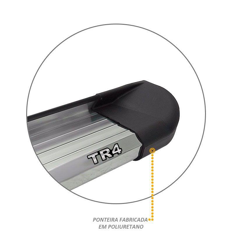 Estribo Lateral Pajero TR4 2002 a 2015 Aluminio Anodizado VF
