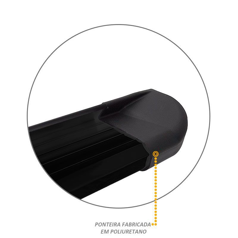 Estribo Lateral Ranger CD 2013 a 2018 Aluminio Preto VF