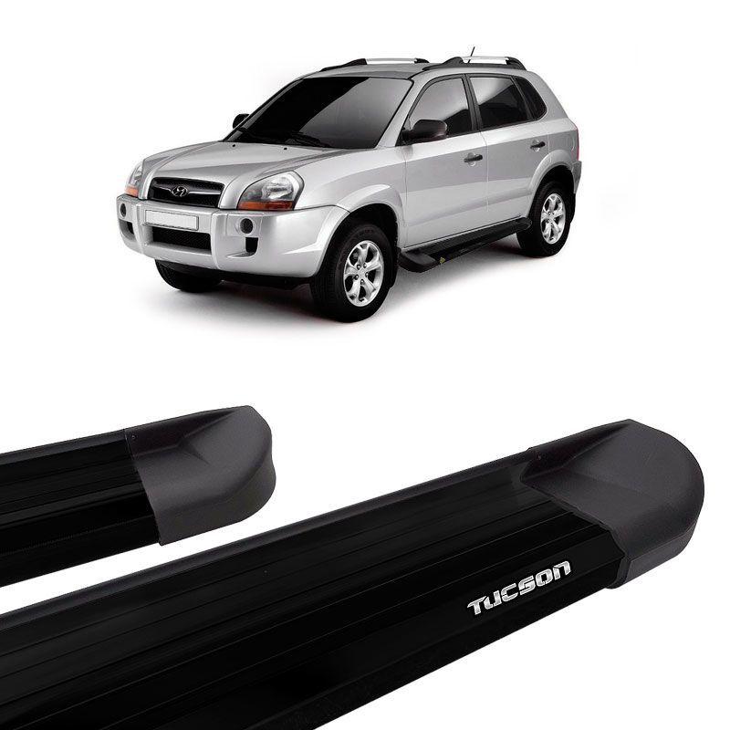 Estribo Lateral Plataforma Alumínio Preto Hyundai Tucson 2005 a 2016