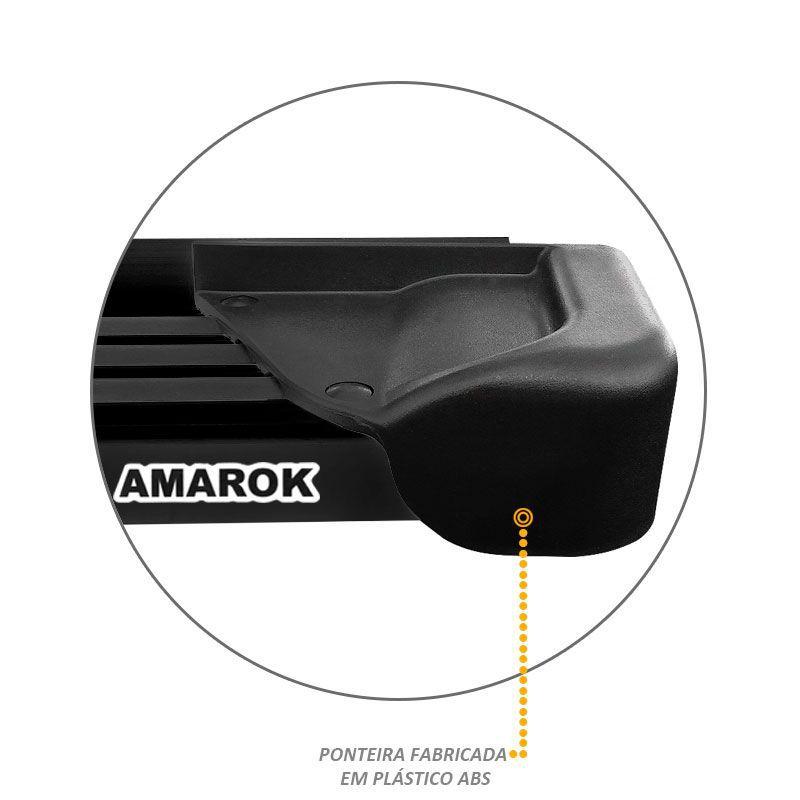 Estribo Lateral Amarok CD 2010 a 2019 Aluminio Preto A1