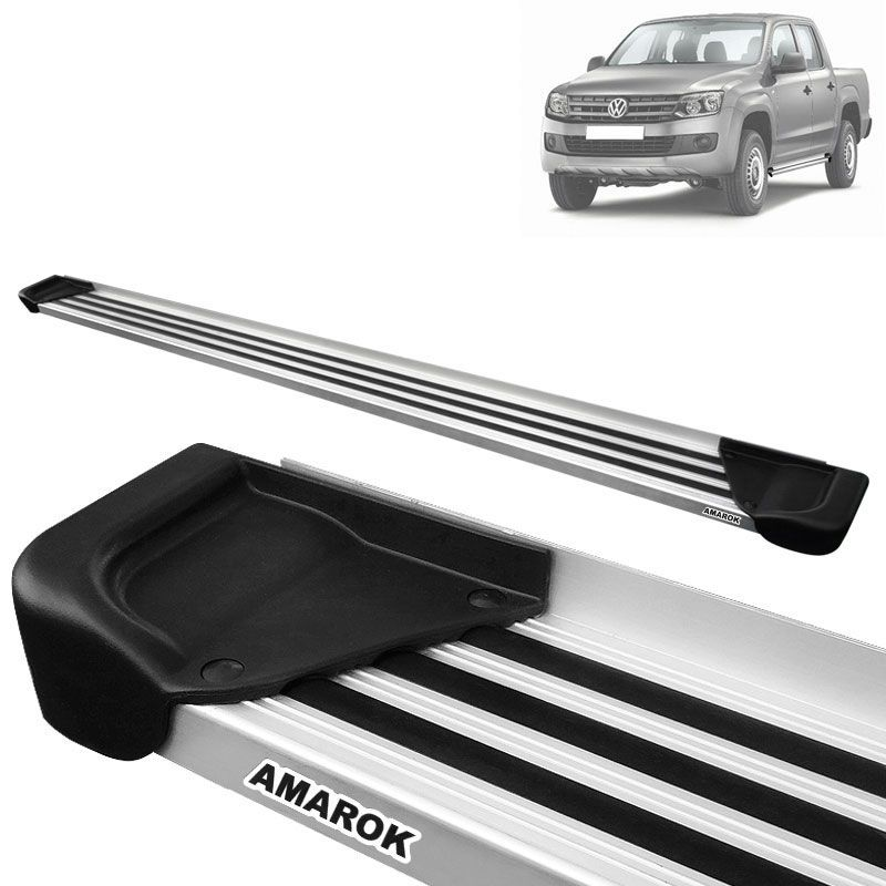 Estribo Lateral Amarok CD 2010 a 2020 Aluminio Natural A1
