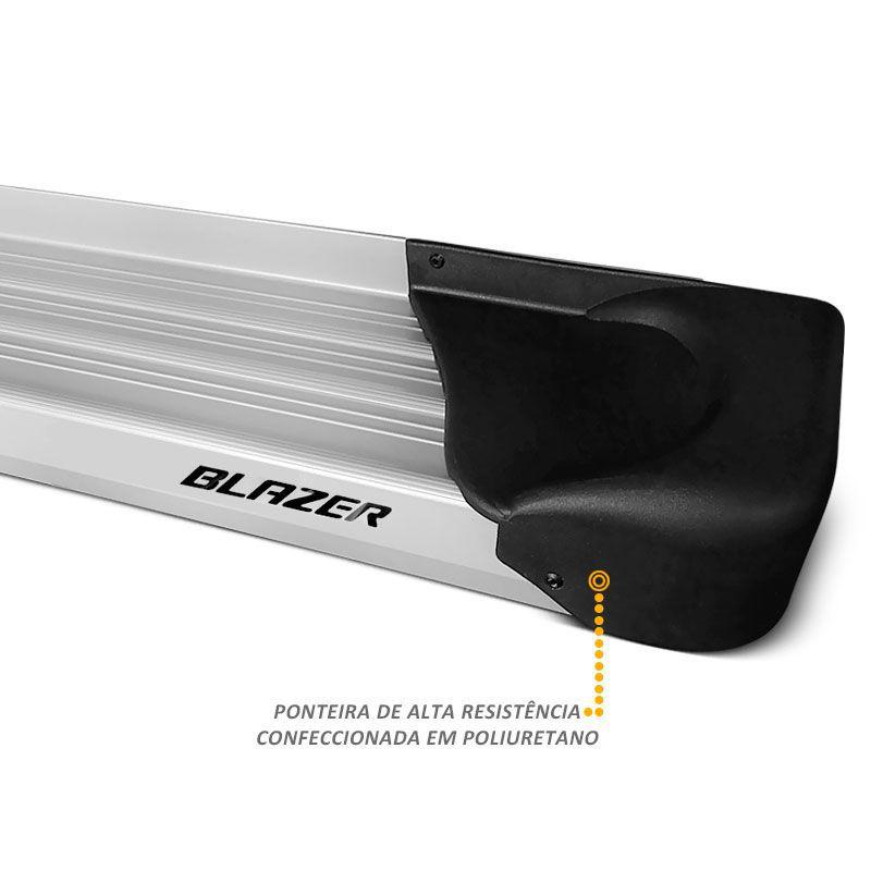 Estribo Lateral Plataforma Blazer 1995 a 2010 Aluminio Prata Auto-x