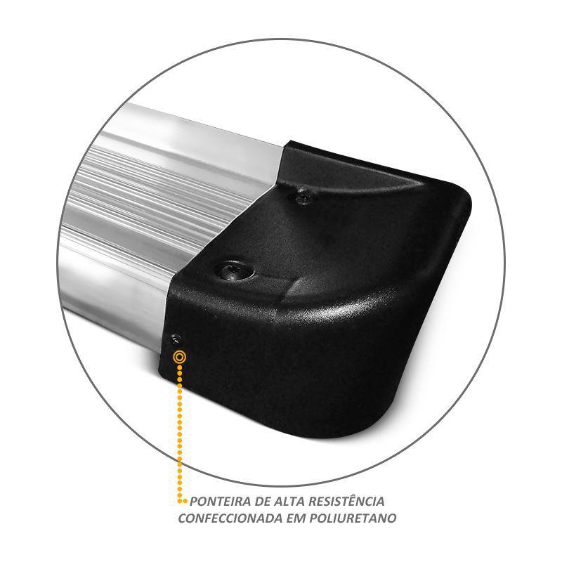 Estribo Lateral Blazer 1995 a 2011 Aluminio Prata Ck