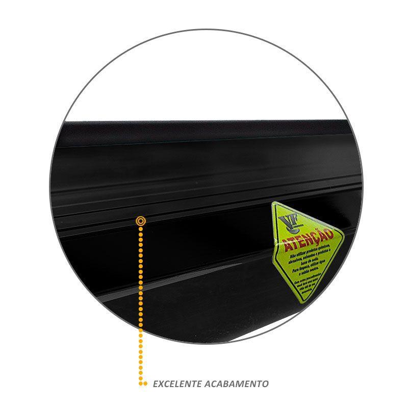 Estribo Lateral Preto Plataforma Alumínio Para Nova S10 2012/2017