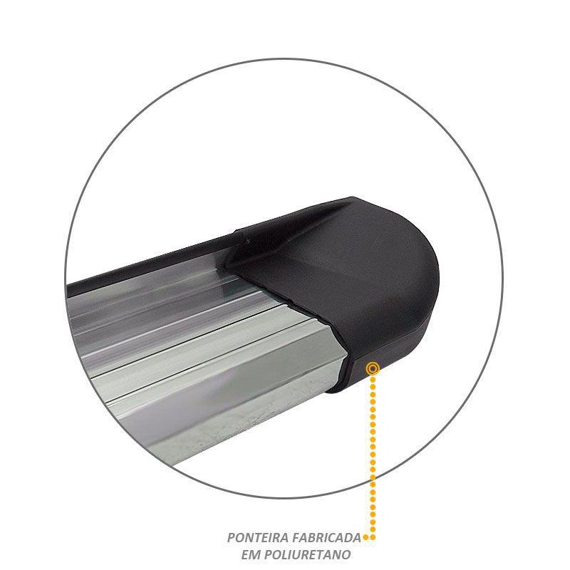 Estribo Lateral S10 CD 1996 a 2011 Aluminio Anodizado VF