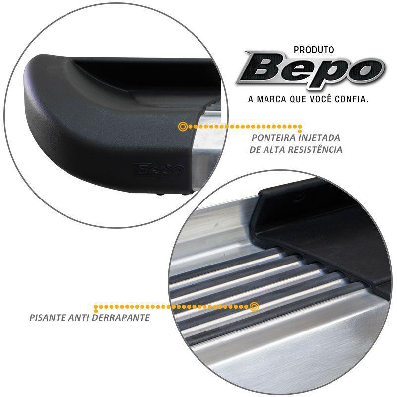 Estribo Lateral Ranger CD 1998 a 2012 Aluminio Polido G2 Bepo