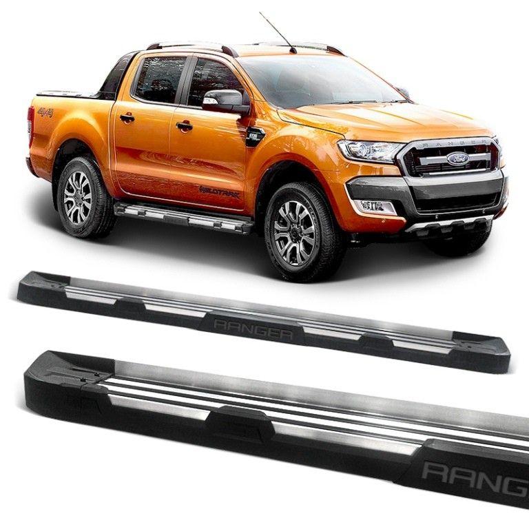 Estribo Lateral Ranger 2013 a 2020 Stribus Off-Road Alumínio Polido