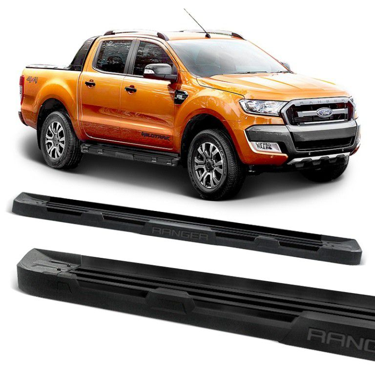 Estribo Lateral Ranger 2013 a 2018 Off-Road Alumínio Preto Fosco Stribus