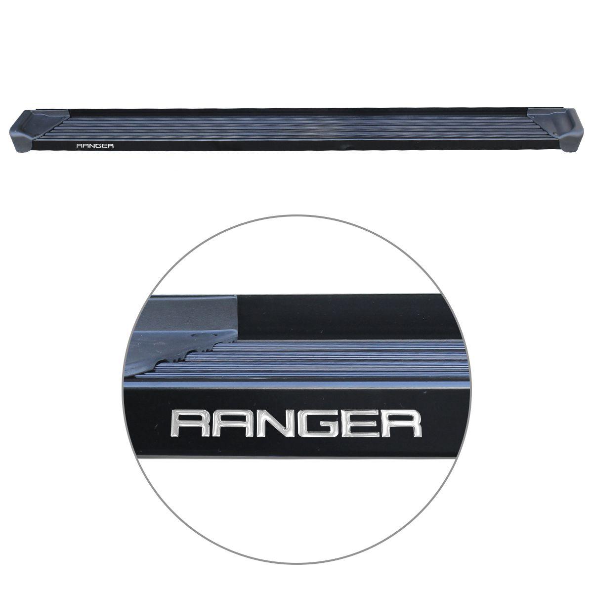 Estribo Lateral Ranger CS 2013 a 2019 Aluminio Preto A3