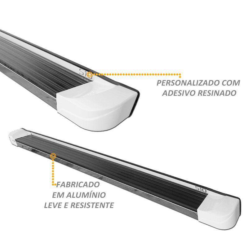 Estribo Lateral S10 até 2011 CD Personalizado na cor Branca